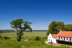 Outbuildings at Castle Dragsholm in Denmark. Royalty Free Stock Photography