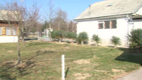 Outbuildings near Wangi house in Rupite, Bulgaria stock video footage