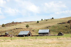 Outbuildings on an Oregon Ranch. Horizontal image of ranch outbuildings in Eastern Oregon, USA Stock Images