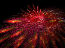 Outburst. Abstract fractal illustration created with apophysis, this is a large file showing many details when viewed at full size Stock Photo