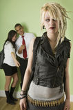 Outcast punk girl Royalty Free Stock Photo