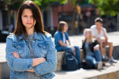 Free Outcasted Teenage Girl Outdoors Royalty Free Stock Photography - 74351227