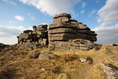 Большой Tor Dartmoor Mis Стоковое Фото