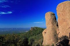 Outcrop Of Red Rock Cliffs From La Patit Roc, Var Stock Image