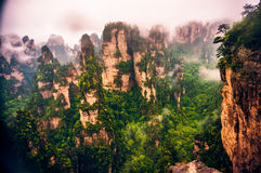 Outcrop in Zhangziajie (Hallelujah, Avatar) mountains, China. Royalty Free Stock Image
