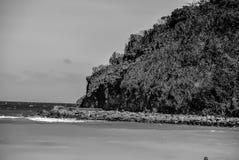 Outcropping da rocha em Boracay imagens de stock