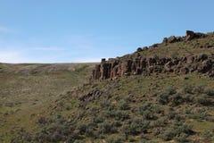 Outcropping del basalto Imagen de archivo