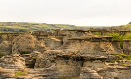Outcropping of stone hills stock images