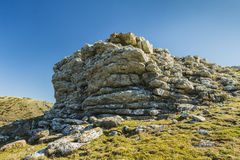 Outcropping at the top Royalty Free Stock Images