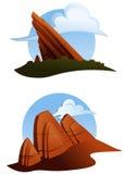 Outcroppings rojos de la roca