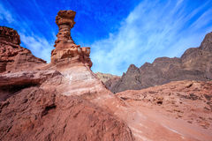 Outcrops of pink sandstone Royalty Free Stock Photo