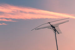 Outdated analogue TV antenna Royalty Free Stock Photography