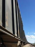 Outdated black train. A outdated black train  background Royalty Free Stock Photo