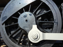 Outdated black train wheel Stock Image