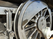Outdated black train wheel. A black train wheel background Royalty Free Stock Photography