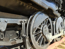 Outdated black train wheels Royalty Free Stock Image