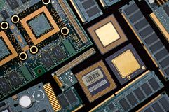 Outdated computer components Stock Photo
