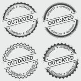 Outdated insignia stamp  on white. Stock Images