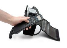 Retro mobile phone stock photo