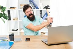 Outdated software. Computer lag. Reasons for computer lagging. How fix slow lagging system. Hate office routine. Man royalty free stock images