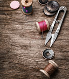 Outdated tools dressmaker Royalty Free Stock Image