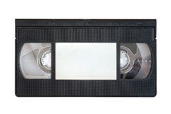Outdated VHS tape on a white background Royalty Free Stock Photo