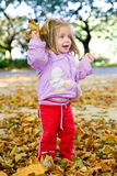 Outdoor. Picture of a baby girl playing outdoor Royalty Free Stock Images