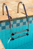 Outdoor. Swimming Pool Stair detail stock photography