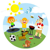 Outdoor Activities. Many fun activities that can be done outdoor Royalty Free Stock Photo