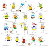 Hand drawing  the Children`s activity Royalty Free Stock Image