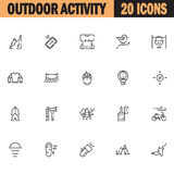 Outdoor activity icon set Stock Image