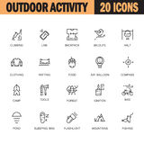 Outdoor activity icon set Royalty Free Stock Image