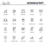 Outdoor activity icon set Stock Photos