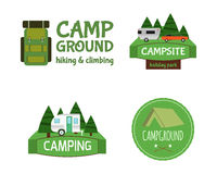 Outdoor  Activity Tourism Travel Logo Vintage Royalty Free Stock Photo