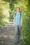 Outdoor Activity - Walk in a Forest Stock Photography