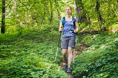 Outdoor Activity - Woman Hiking Stock Images