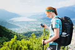 Outdoor Adventure - Hiking in the Alps Stock Photography