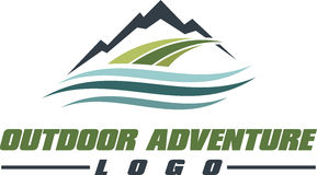 Outdoor Adventure logo Royalty Free Stock Image