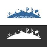 Outdoor adventure sport logo. Sport logo. Illustration of outdoor adventure sports design icon Stock Image