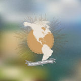 Outdoor adventure poster. North and South America Royalty Free Stock Photo