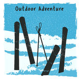 Outdoor adventure retro poster Royalty Free Stock Images
