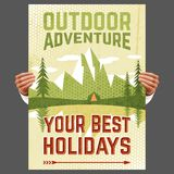 Outdoor adventure tourism poster Stock Photography