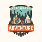 Outdoor adventure. Vector illustration. Concept for shirt or logo, print, stamp or tee. royalty free illustration