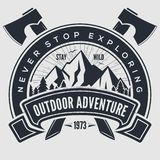 Outdoor Adventure vintage label, badge, logo or emblem. Vector illustration.  vector illustration