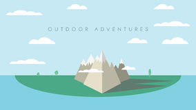 Outdoor adventures concept background with high Royalty Free Stock Image