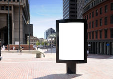 Outdoor Advertising. Blnk billboard for outdoor advertising in the city Stock Photo