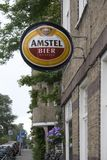 Outdoor advertising of Amstel in Amsterdam Stock Photos