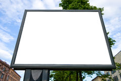 Outdoor advertising billboard Royalty Free Stock Photography