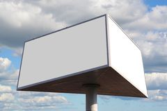Outdoor advertising billboard. With two blank spaces for text stock photography