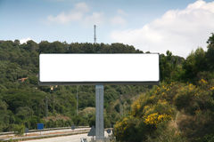 Outdoor advertising billboard Royalty Free Stock Photos